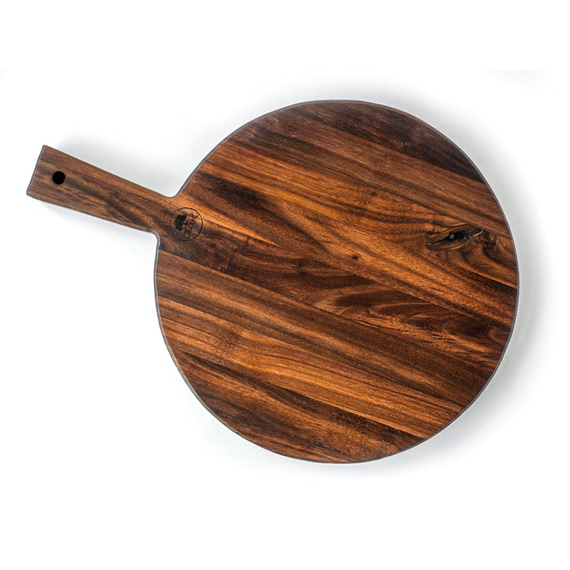 Quarter Sawn Round Walnut Serving Board