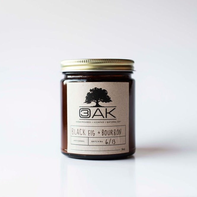 BLACK FIG + BOURBON Hand-poured Soy Candle