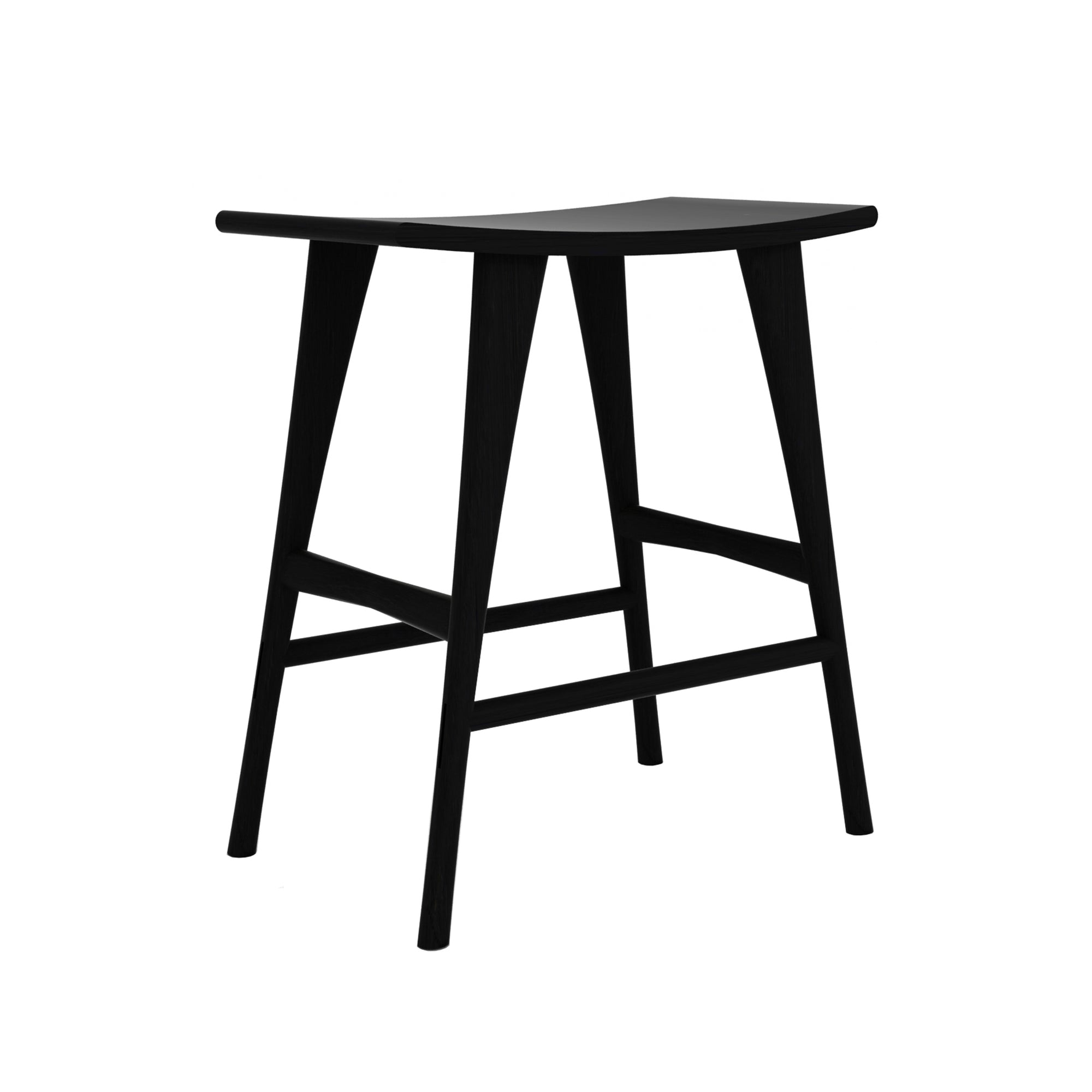 Oak Osso black counter stool