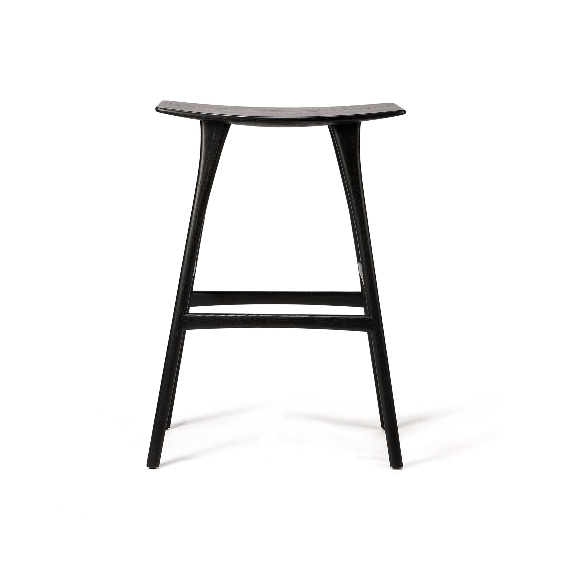 Oak Osso black bar stool