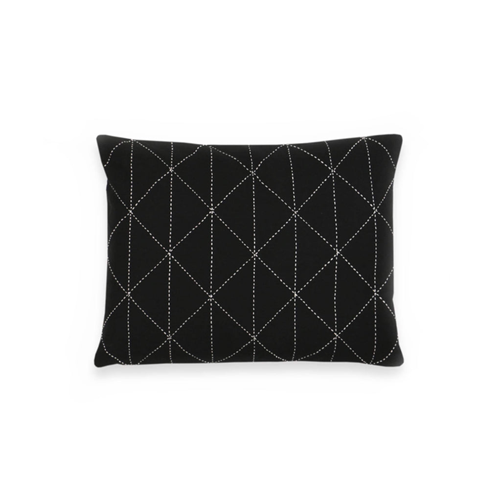 SMALL GRAPH THROW PILLOW - CHARCOAL