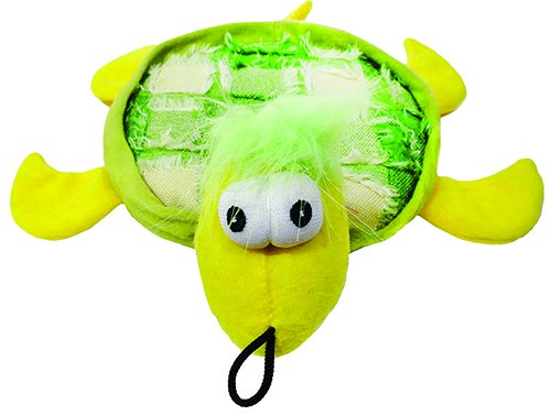 Plush Tishy Turtle Dog Toy 10.5""