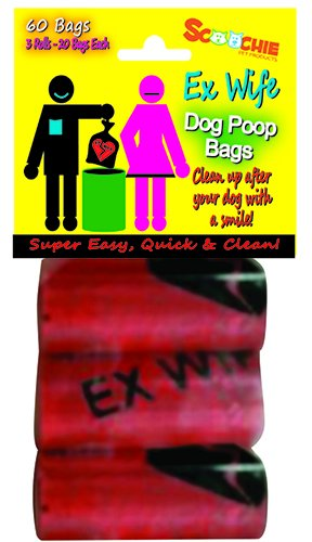 Dog Waste Bags, Ex Wife (Pack of 3 Roll, 2o bags specifications)