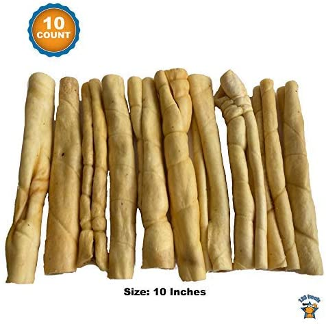 Beef Cheek Rolls (10 Count) - Chew Stick for Dogs 10 inches - Retriever Beef Cheek Roll Chew Stick