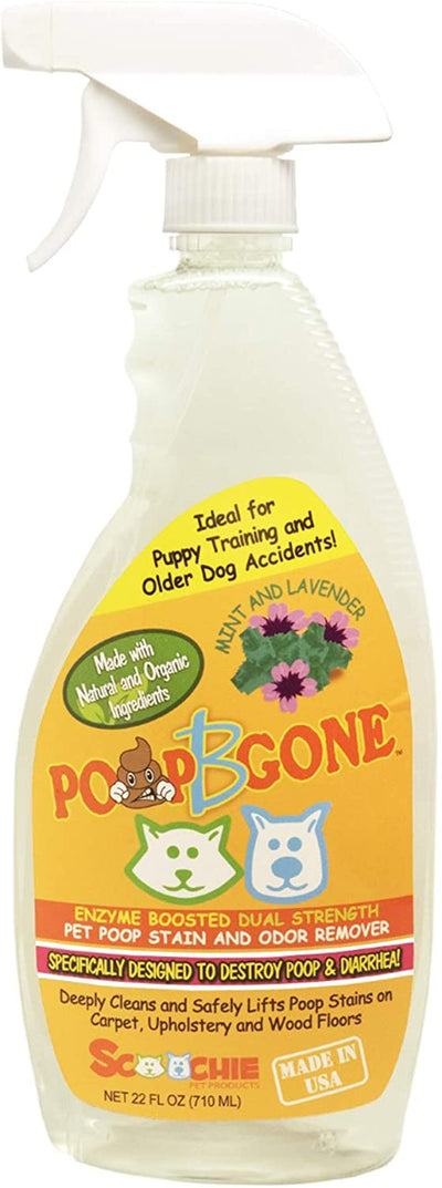 Pet Poop Stain and Odor Remover | 22 oz or 1 Gallon | Poop B Gone | Dogs and Cats poop Stains Removal