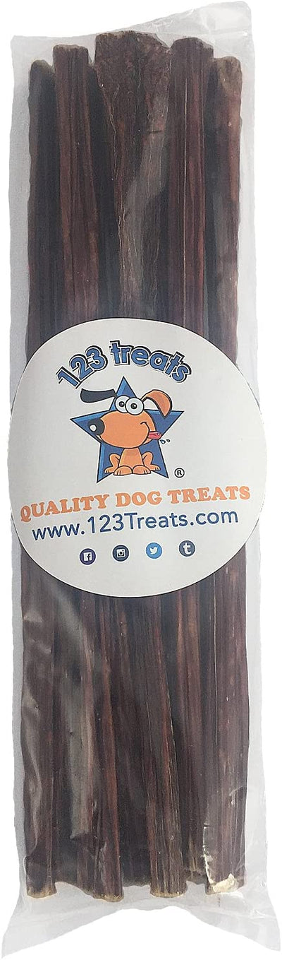 "Beef Dog Treats 12"" - 15 Count - 100% Natural Esophagus Chews for Dogs - Healthy Meat Jerky"