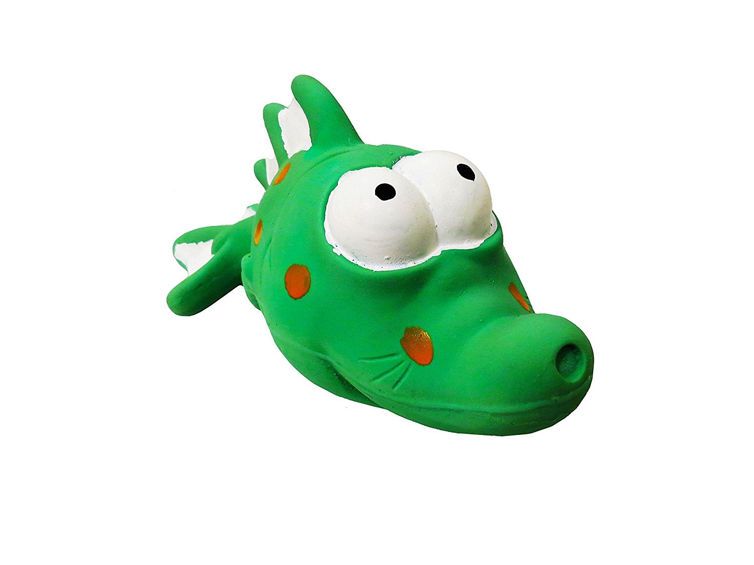 Premium Dog Toy | Latex Bug Eyed Green Fish | 7.25 Inch