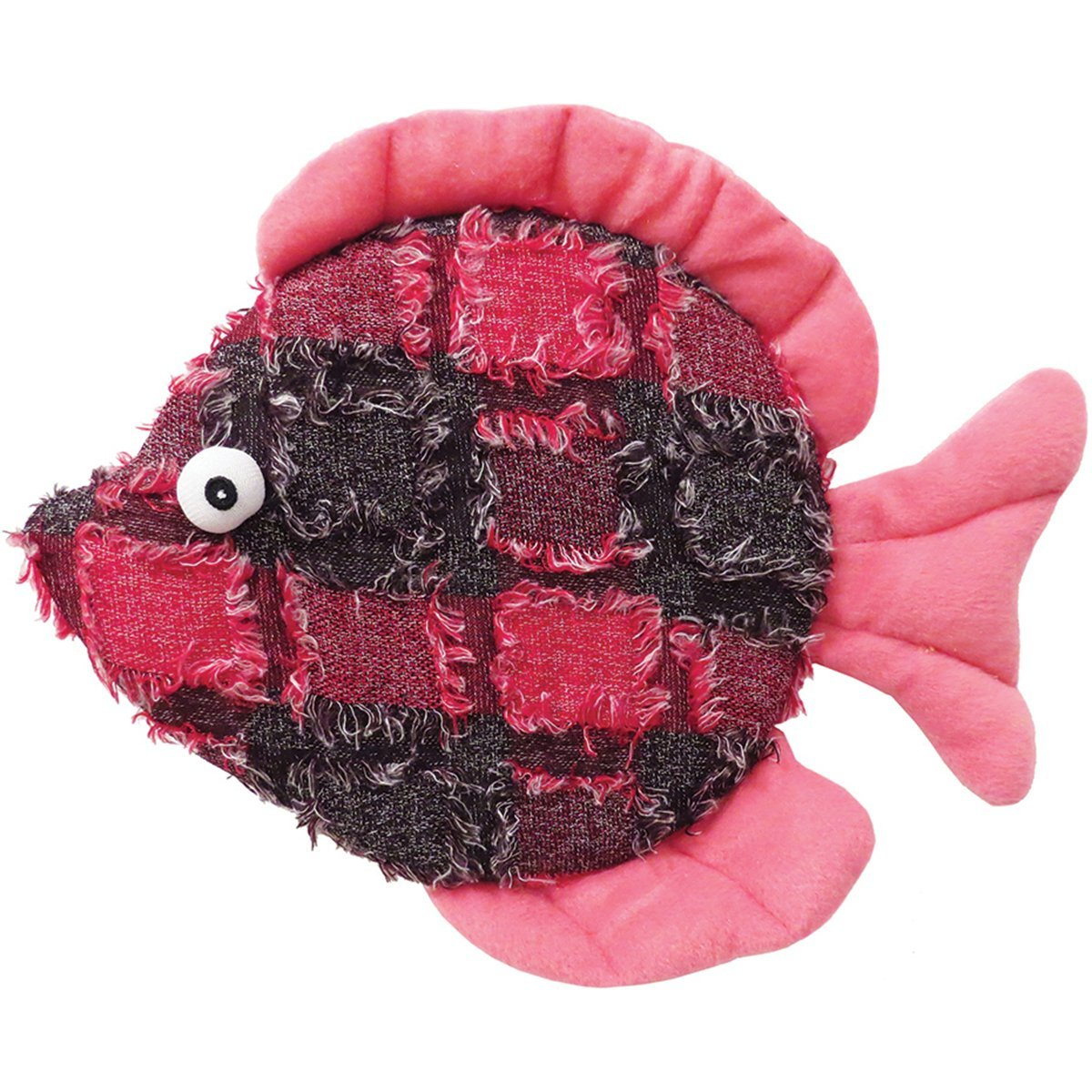 Plush Donna Discus Fish Dog Toy 10.5""