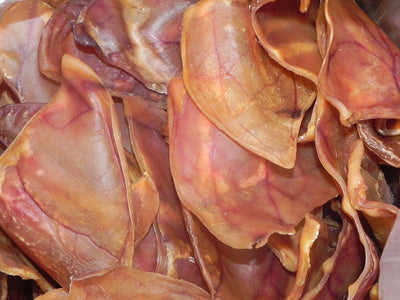 PIG EARS for Dogs Large or Whole sizes - Irradiated and Tested -  100% Natural Pork Ears Full of Protein for Your Pet By 123 Treats