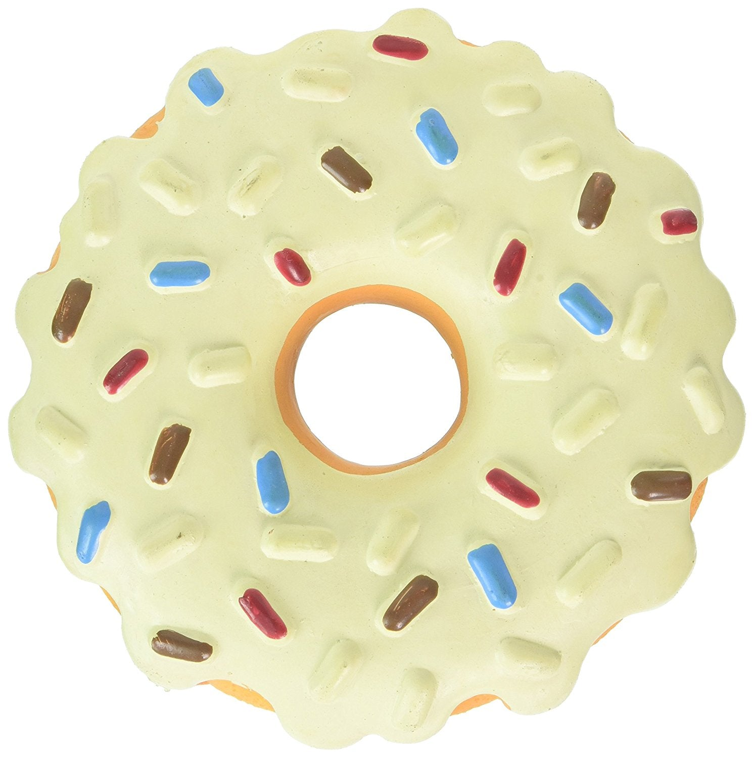 Premium Dog Toy | Latex Police Dog Donut | 7.25 Inch