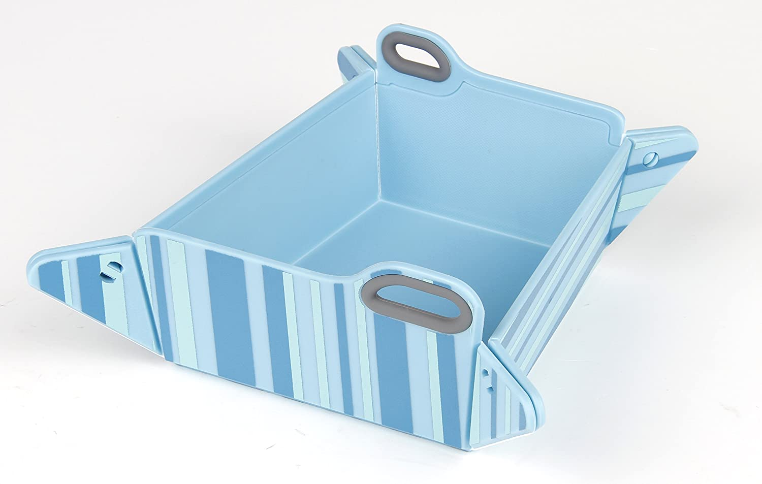 Blue Chop2bowl Dog and Cat Travel Collapsible Water and Food Bowl Snap on Chopping Board
