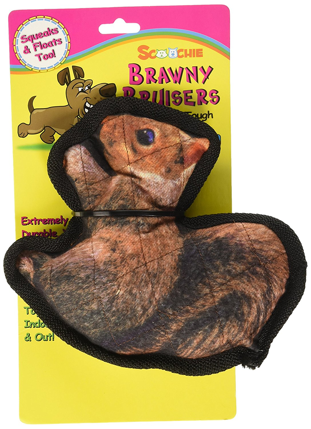 Scoochie Pet Products 513 Brawny Bruisers Scoochie Squirrel, 8""
