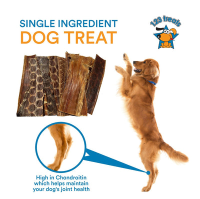 "6""  Beef Dog Treats Esophagus for Dogs 100% Natural Healthy Chews for Dogs (1 Pound or 25 Count)"