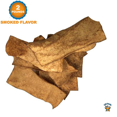 Rawhide Smoked Chips Dog Chews | 100% All-Natural Grass-Fed Free-Range Beef Hide for Dogs