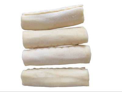 "4 - 5"" inches Rawhide Retriever Rolls Chews for Dogs  (10 Count)"