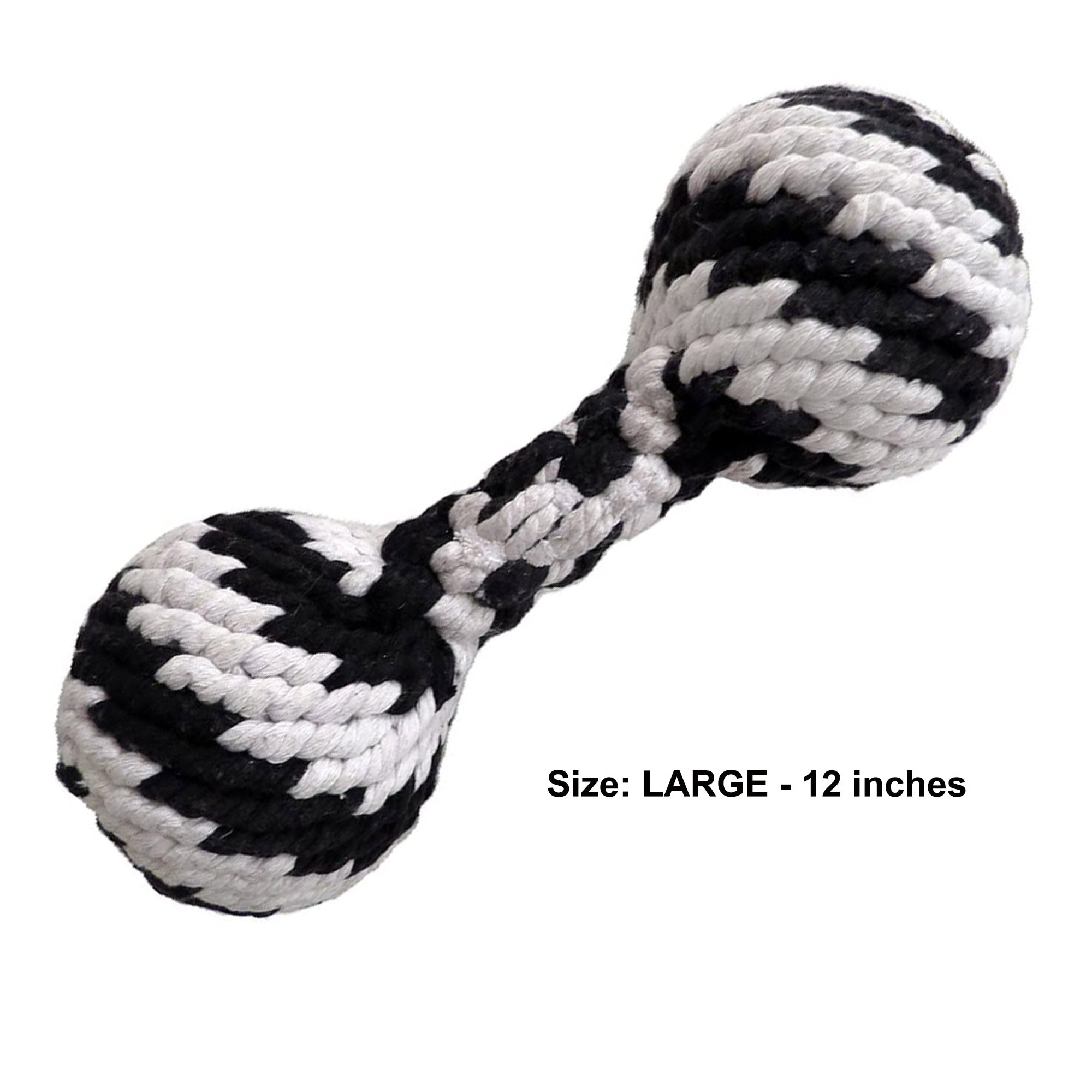 Super Scooch Braided Rope Squeaker Dumbbell Dog Toy
