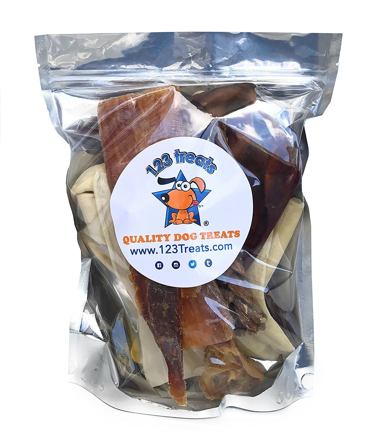 8 oz Assorted Dog Chews Bulk Delicious Natural Chews for Dogs - Mix dog treats from 123 Treats