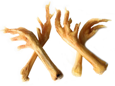 Chicken Feet For Dogs | Natural Joint Dog Chews  7 ounces Made in US or EU- Excellent source of chondroitin | By 123 Treats