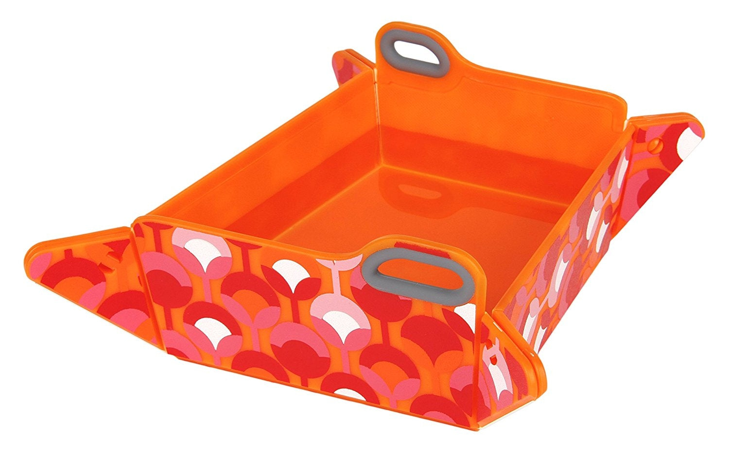 Orange Chop2bowl Dog and Cat Travel Collapsible Water and Food Bowl Snap on Chopping Board
