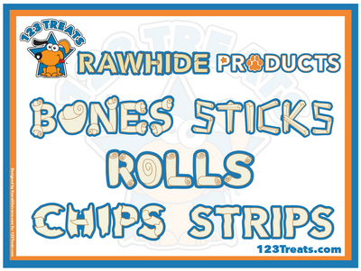 ASSORTED DOG RAWHIDE CHEWS BULK 2 or 4 Lbs | Delicious Natural Chews for Dogs - Mix dog treats