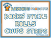 "5-6"" Rawhide Bones 