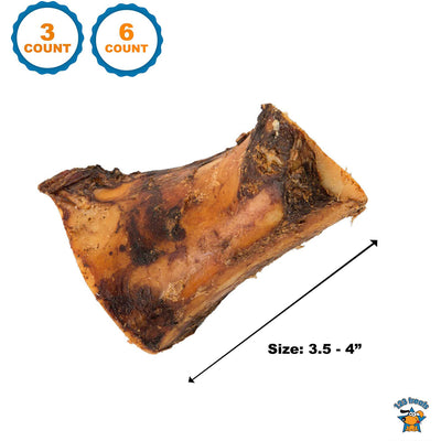 BONES WITH BONE MARROW for Dogs 3 or 6 Count - Made in the US and Brazil- Natural Grass Fed Meaty Chew Treats for Aggressive chewers. Best for Small to Medium Size Dogs