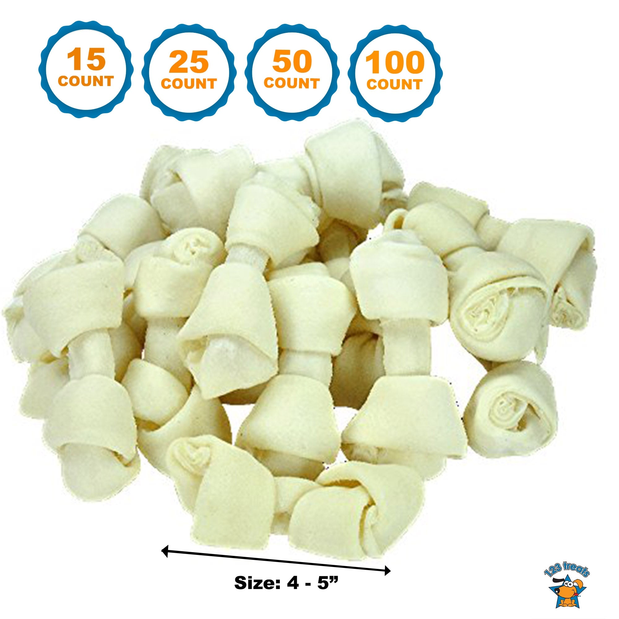 "4-5"" Rawhide Bones for dogs 
