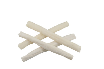 "5-6"" Rawhide Natural Skinny Roll Stick For Dogs 15 or 30 Count 