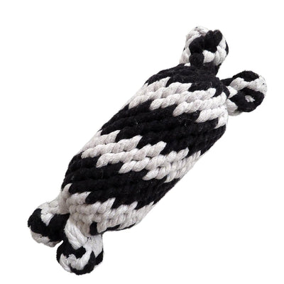 Super Scooch Braided Rope Man With Squeaker Dog Toy Small or Large