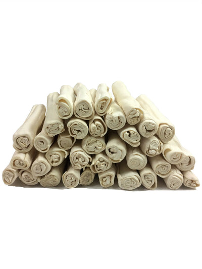 9 - 10 inches Rawhide Rolls dog chews (6, 24, or 36 Count)
