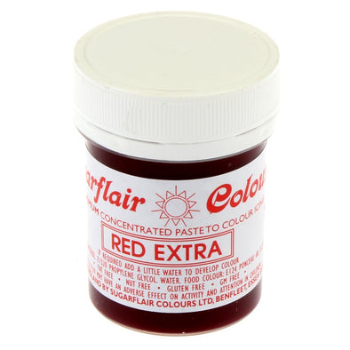 Sugarflair Red Extra Strong Colour Paste - Large - The Shire Bakery