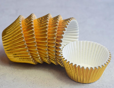 Gold Metallic Foil Cupcake Cases - The Shire Bakery