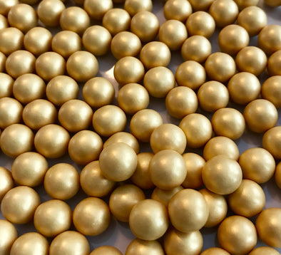 Large Gold Chocolate Pearls - The Shire Bakery