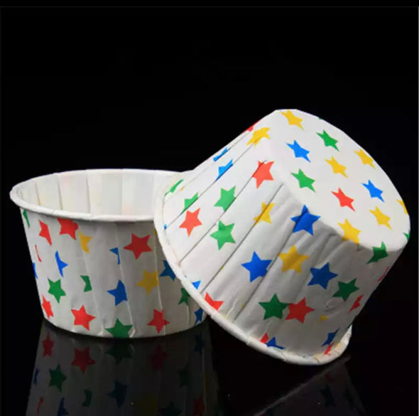Rainbow Star Baking Cups