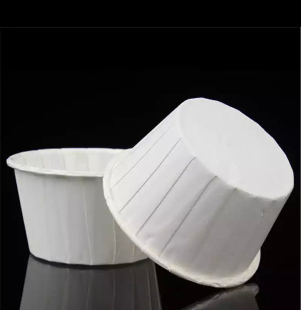 All White Baking Cups