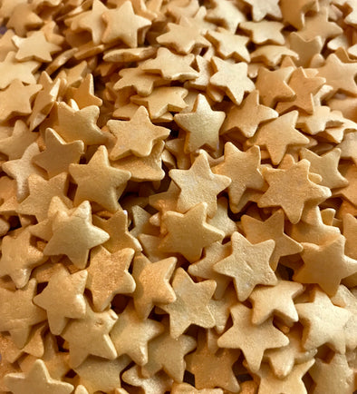 Large Gold Glimmer Star Sprinkles - The Shire Bakery