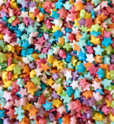Mini Rainbow Star Sprinkles - The Shire Bakery
