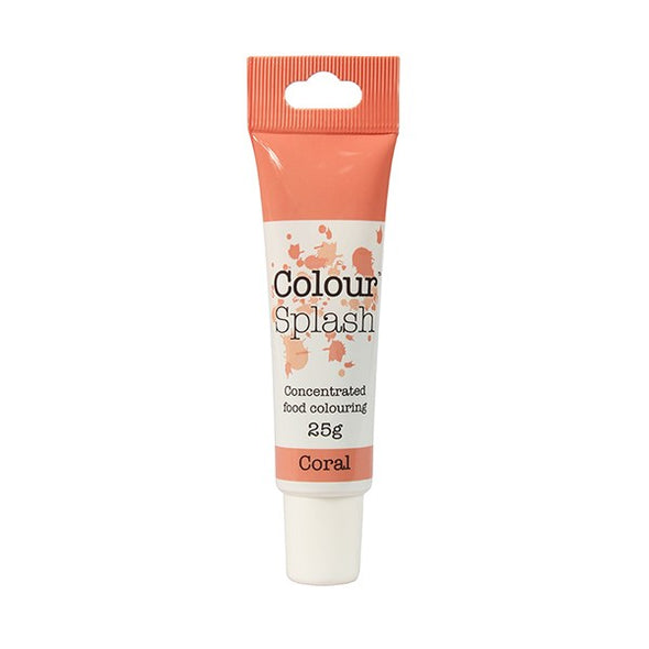 Colour Splash Food Colouring Gel - Coral - The Shire Bakery