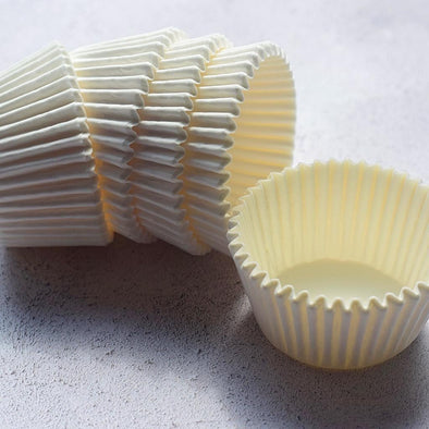 White Cupcake Muffin Cases Pack of 100 - The Shire Bakery