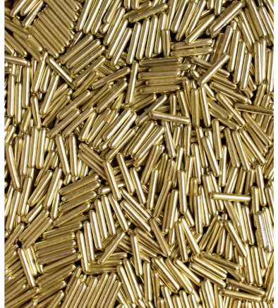 Gold Metallic Rod Sprinkles - The Shire Bakery