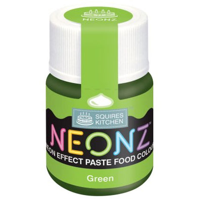 Squires Kitchen Neonz Paste Food Colour - Green