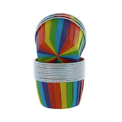 Rainbow Stripe Baking Cups 24 Pack - The Shire Bakery
