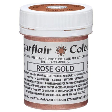 Sugarflair Rose Gold Chocolate Paint 35g