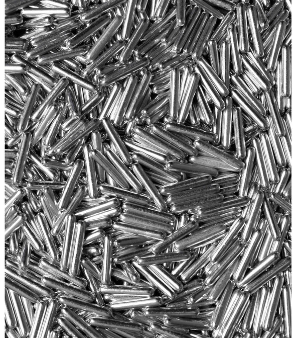 Silver Metallic Rod Sprinkles - The Shire Bakery
