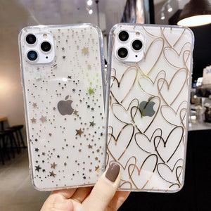 Love Heart Phone Case For iPhone 7 8 6 6s Plus 11 Pro X XR XS Max (004)