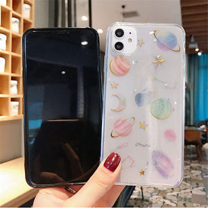 Glitter Bling Stars Moon Case For iPhone 11 Pro X XR XS Max 7 8 (005)