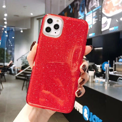 For iPhone 11 Case Glitter Bling Candy Color For iPhone 11 Pro Max Phone Cases Soft TPU Silicone Solid Shiny Back Cover