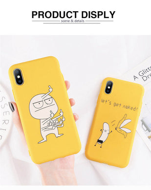Cartoon Finger Funny Banana Phone Cases For iPhone 11 Pro X 7 8 XR XS Max 6 6s Plus 5 5s SE Animals Soft TPU Back Cover