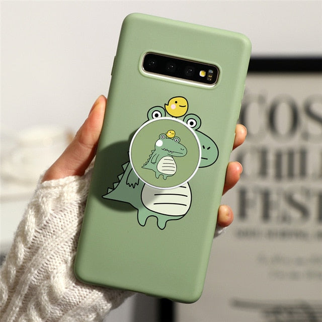 Avocado Stand Cover For Samsung Galaxy A51 A71 A10 A20 A20E A21 A30 A40 A50 A60 A70 M30S S8 S9 S10 S20 Plus S10E Ultra TPU Case