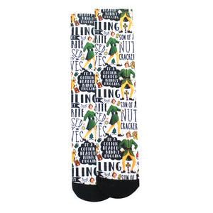 Elf Quote Crew Socks